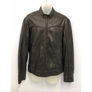 Just Cavalli Brown Leather Jacket SZ L